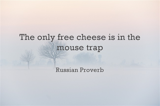 only free cheese is in the mouse trap